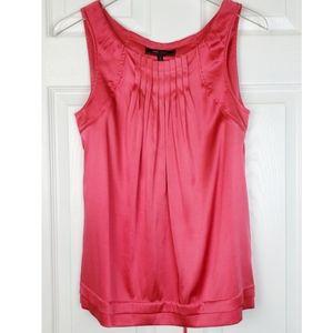 Bcbgmaxazria silk planks neckline pink tank top